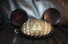 New Disney AULANI Brown Mickey Mouse Ears Hat Kukui Nut HAWAII EXCLUSIVE