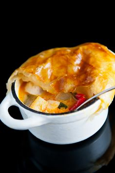 Thai Curry Chicken Pot Pie
