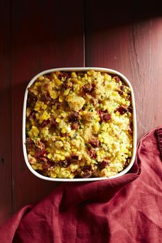 Chorizo-Cornbread Stuffing #thanksgiving #sides #fall #holidays