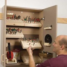 Organize drill bits, etc.. I will make my husband organized.