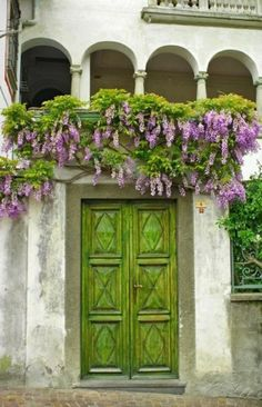 Green door purple accent