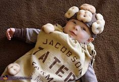 Potato Sack - cute DIY baby costume. Halloween Costume Contest