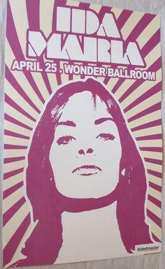 Ida Maria  Poster Concert $9.84