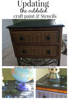 update the outdated. #paintingfurniture #Stenciling