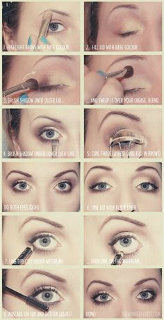 make-up tip, after that eye looks much bigger