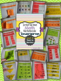 Interactive Math Notebook for Kindergarten! Unit 9: Year in Review-- daily entries for a month. My kids LOVE their math notebooks! $