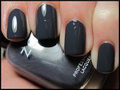 Zoya ~ Kelly. Steel grey nails. Perfect