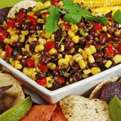 Corn and Black Bean Salad - Healthy Recipes: Easy Meals from Canned and Dry Foods - Shape Magazine dinner, bean salsa, black beans, food, recip, side dish, bean salads, healthy appetizers, corn dip