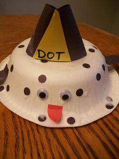 Dot the Dalmatian. Fantastic fire safety craft.