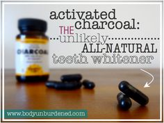 Activated charcoal? On your teeth!? YES! This unlikely all-natural teeth whitener leaves your pearly whites sparking. charcoal teeth whitening, white teeth charcoal, naturally whiten teeth, teeth whitening charcoal, all natural teeth whitener, natural teeth whitening