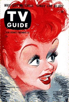 1957 TV Guide Cover featuring Lucille Ball
