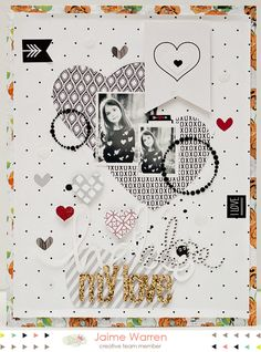Hello My Love by Jaime Warren - Scrapbook.com - Made with Glitz supplies.