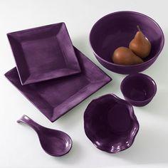 Corsica Dinnerware & Accessories in Plum
