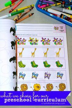Preschool curriculum for home schooling