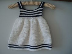 Cute, but with thousands of free patterns, I'm not paying $5 for this one. Ravelry: Summer Stripes Girls Dress pattern by Flossie Potts