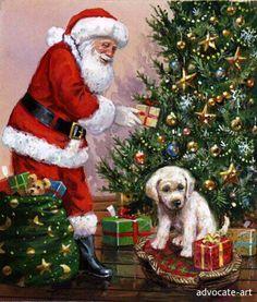 *Santa pup* father christma, christma santa, santa pup, santa claus, christma pictur, christma art