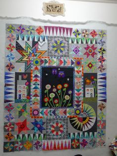 a bright and cheerful quilt sampler