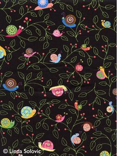 Timeless Treasures Buggy Boogie Fabric Collection by Linda Solovic, via Behance