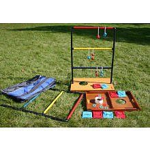 Bag Toss, Ladder Toss, and Washer Toss - I'm going to recreate this for some summer fun! ladder, lawn games, backyard games, bag, outdoor fun, sport, camping outdoors, outdoor game, family games