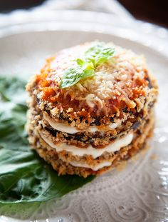 Easy Eggplant Parmesan Stacks #NewTraDish #whipperberry #easyweeknightmeal