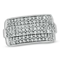 1 CT. T.W. Diamond Sparkler Ring in 10K White Gold