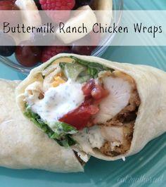 Buttermilk Ranch Chicken Wraps