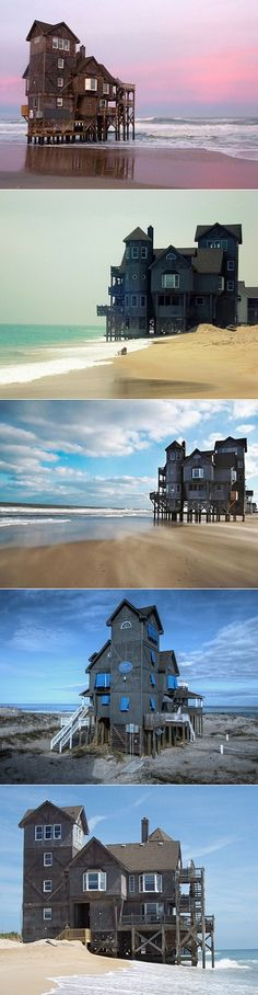 """Serendipity House in Rodanthe, NC. Used for the movie """"Nights in Rodanthe"""" with Richard Gere."""