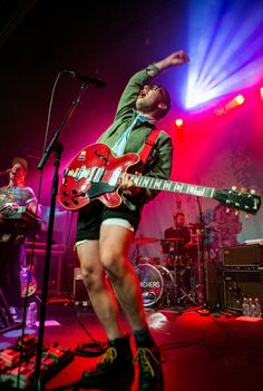 Fun.'s Jack Antonoff gets loose during a performance with his side project Bleachers on Aug. 26 in Detroit