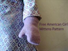 Free Mittens Pattern Tutorial for 18 inch American Girl Dolls