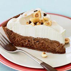 Chocolate Hazelnut Pie #thanksgiving #holidays #desserts