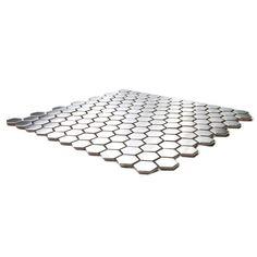 Honeycomb Hexagon Mosaic Stainless Steel Tile