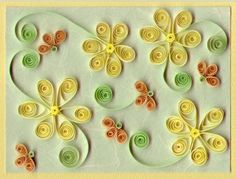 craft, woodworking projects, decorating ideas, flower power, paper design, quilling patterns, paper quilling, mustard yellow, flower patterns