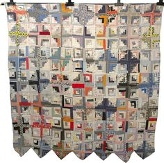 African American Quilt Missisippi Gee's Bend Style Quilt Vintage 1930s Log Cabin Pattern (link is bad)