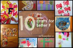10 fun crafts for letter F!