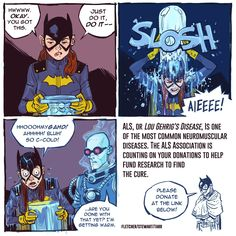 Batgirl does the ice bucket challenge by Babs Tarr and Cameron Stewart
