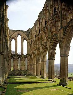 Costercian monastery of Rievaulx Abbey.