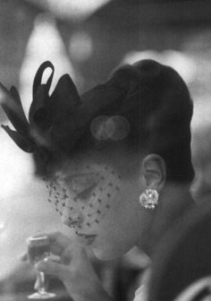 hats, coco chanel, fashion, vintage glamour, birdcage veils, white, 1950, black, vintage chanel