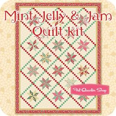 Mint Jelly & Jam Quilt Kit, named by Rhonda Dohna in the Name That Kit contest at Fat Quarter Shop