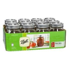 Ball 12-Pack 16 oz Glass Canning Jars with Lids