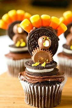 Thanksgiving Turkey Cupcakes...