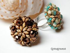 Beaded Ring with SuperDuos