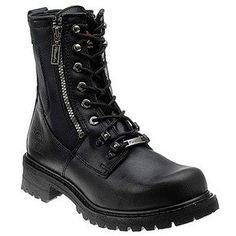Milwaukee Motorcycle Clothing Company Trooper Leather Men's Motorcycle Boots (Size 10D, Black)