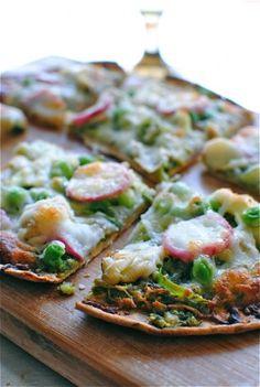 spring vegetable flatbread