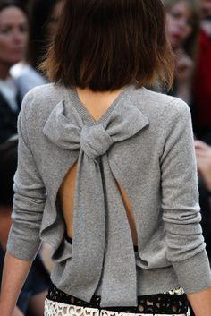 sweaters, style, burberry, fashion week, spring summer, burberri prorsum, bows, london fashion, spring 2014