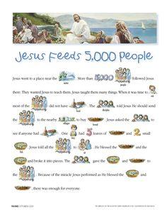 Jesus feeds 5000 people read-along