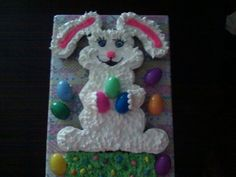 Easter bunny cupcake cake.