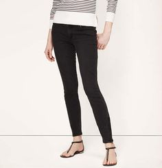 Modern Skinny Ankle Zip Jeans in Washed Black