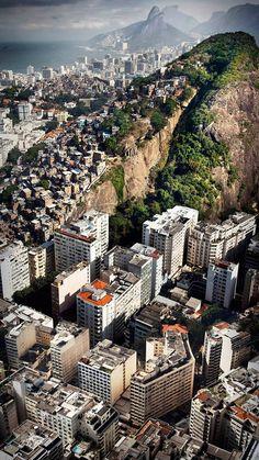 Ariel view of the city, Rio de Janeiro.