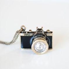 Retro Camera Necklace $15