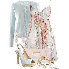 A Perfect Floral Dress by stylesbyjoey on Polyvore